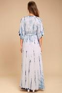 Seaside Dream Navy Blue and Lavender Tie-Dye Maxi Dress 3
