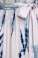 Seaside Dream Navy Blue and Lavender Tie-Dye Maxi Dress 4