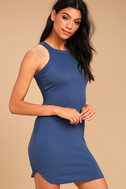 Simply Speechless Washed Navy Blue Bodycon Dress 2