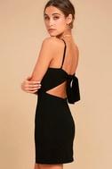 Toast to Life Black Mini Dress 1