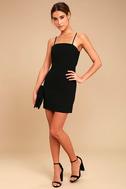 Toast to Life Black Mini Dress 3