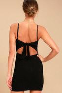 Toast to Life Black Mini Dress 4