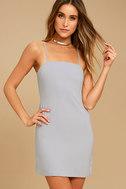 Toast to Life Grey Mini Dress 2