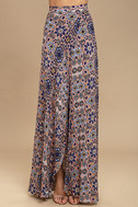 Dancing with Daisies Mauve Print Maxi Skirt 2