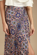Dancing with Daisies Mauve Print Maxi Skirt 4