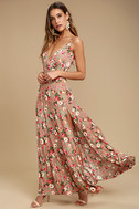 Everlasting Bliss Blush Floral Print Maxi Dress 2