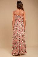Everlasting Bliss Blush Floral Print Maxi Dress 3