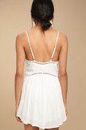Amuse Society Tatum White Crochet Mini Dress 3