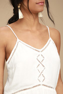 Amuse Society Tatum White Crochet Mini Dress 4