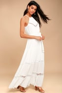 Some Kind of Wonderful White Lace Maxi Dress 2