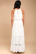 Some Kind of Wonderful White Lace Maxi Dress 3