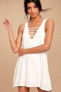 Lucy Love Cage White Mini Dress 1