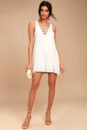 Lucy Love Cage White Mini Dress 2