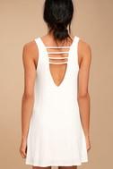 Lucy Love Cage White Mini Dress 3