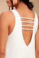 Lucy Love Cage White Mini Dress 4