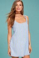 Seaside Swing Blue and White Striped Shift Dress 3
