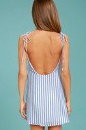 Seaside Swing Blue and White Striped Shift Dress 4