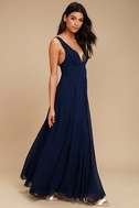 True Bliss Navy Blue Maxi Dress 2