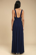 True Bliss Navy Blue Maxi Dress 3