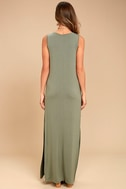 Z Supply Marianna Olive Green Sleeveless Maxi Dress 3