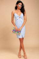 Black Swan Alia Blue Striped Dress 2