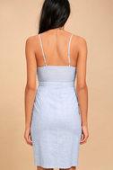 Black Swan Alia Blue Striped Dress 3
