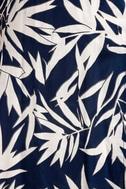 Amuse Society Provence Navy Blue Print Wrap Maxi Dress 4