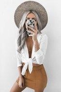 Simply Perf Tan Suede Mini Skirt 7