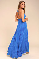 Elevate Blue Embroidered Maxi Dress 2