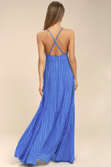Elevate Blue Embroidered Maxi Dress 3