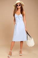 Ain't No Other Light Blue Chambray Midi Dress 2