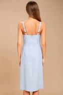 Ain't No Other Light Blue Chambray Midi Dress 3