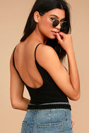 Into the Groove Black Backless Bodysuit 1