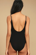 Into the Groove Black Backless Bodysuit 5