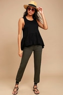 Free People Cantina Washed Black Tank Top 2