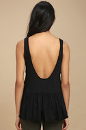 Free People Cantina Washed Black Tank Top 3