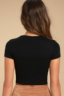 Gotta Have It Washed Black Black Crop Top 3