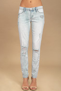 Blank NYC Spray On Light Wash Distressed Skinny Jeans 2
