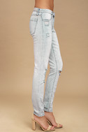 Blank NYC Spray On Light Wash Distressed Skinny Jeans 3