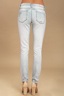 Blank NYC Spray On Light Wash Distressed Skinny Jeans 4