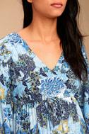 Jack by BB Dakota Faira Blue Floral Print Dress 4