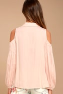 Love Somebody Peach Long Sleeve Button-Up Top 3