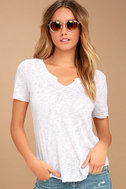 Project Social T Suzie Shirttail White Tee 1