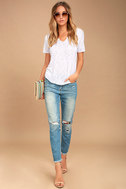 Project Social T Suzie Shirttail White Tee 2