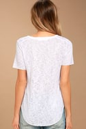Project Social T Suzie Shirttail White Tee 3