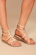 Rebels Florence Natural Leather Gladiator Sandals 2