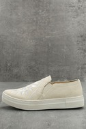 Seychelles Sunshine Natural Canvas Embroidered Slip-On Sneakers 2