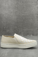 Seychelles Sunshine Natural Canvas Embroidered Slip-On Sneakers 4