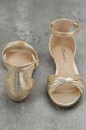 Maryanna Champagne Wedge Sandals 3