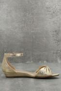 Maryanna Champagne Wedge Sandals 4